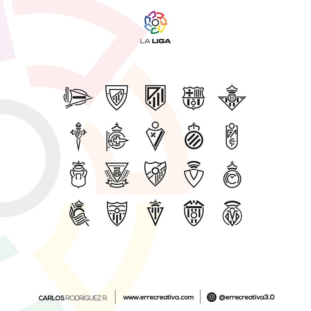 escudos de La Liga se diseñaran en flat design? - 22