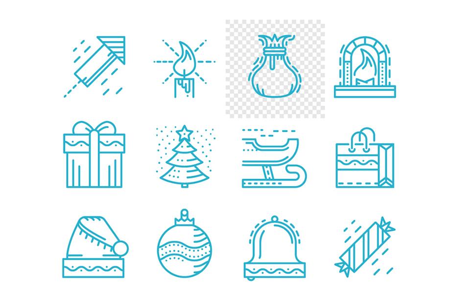Los 200 mejores iconos navideños que podrás utilizar gratis estas navidades - Oleksandr Yershov