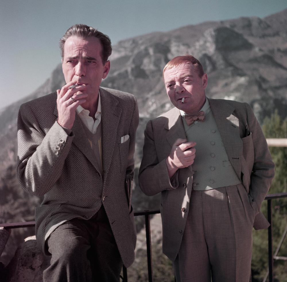 Humphrey Bogart y Peter Lorre, por Robert Capa