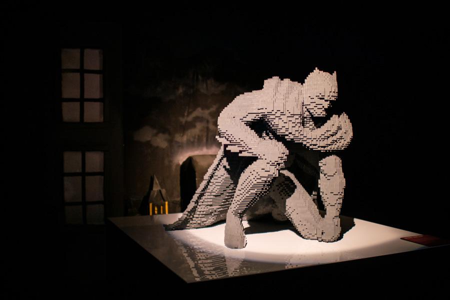 Batman hecho en Lego por Nathan Sawaya