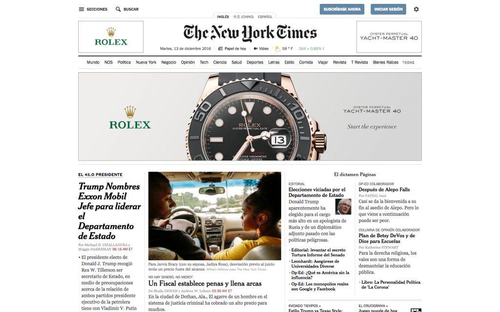 NYTimes.com rediseña su experiencia de usuario