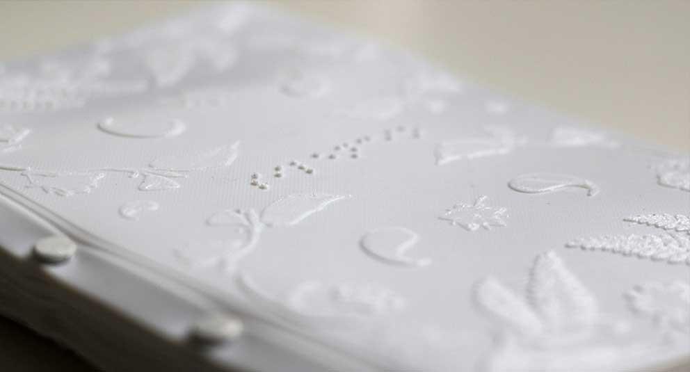 Silencio, un libro táctil de poesía en 3D de Jennifer Martín-Lorente