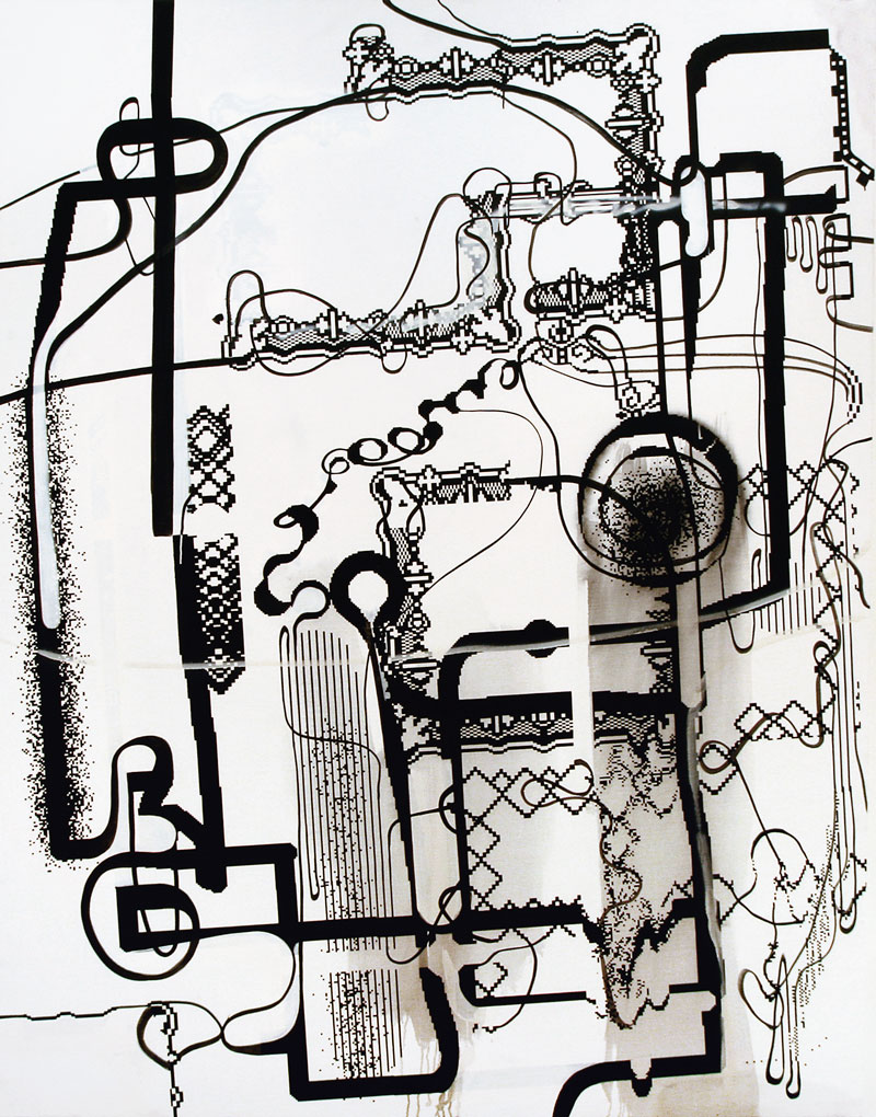 Obra sin título de Albert Oehlen 2004