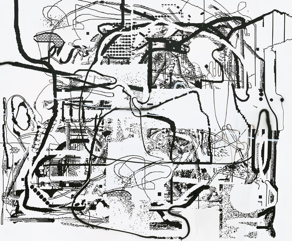 Obra sin título de Albert Oehlen 2005