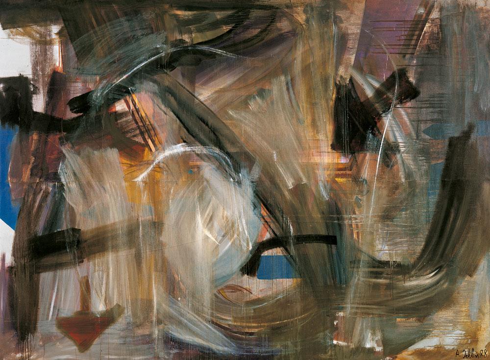 Pintura sin título de Albert Oehlen 1988