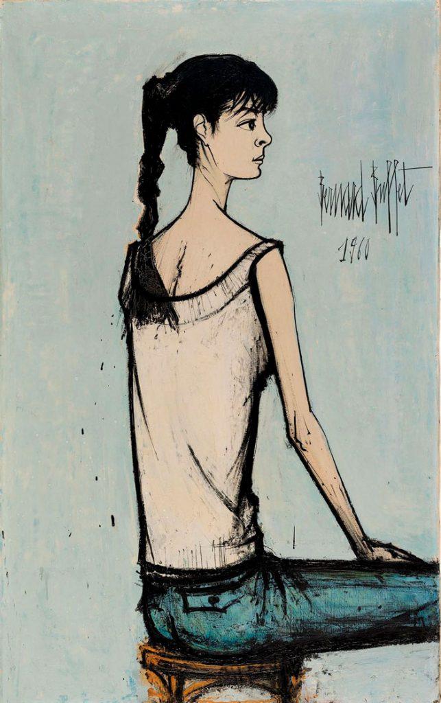 Annabel à la natte de Bernard Buffet, 1960