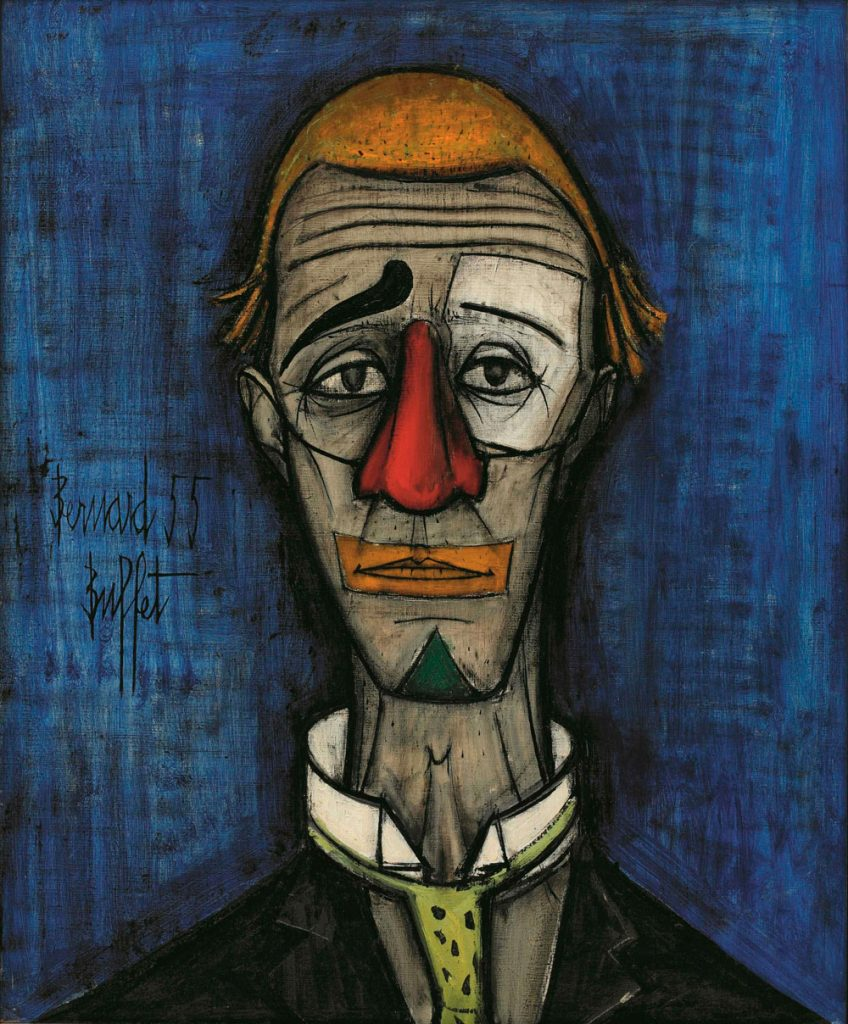 Tête de clown de Bernard Buffet, 1955