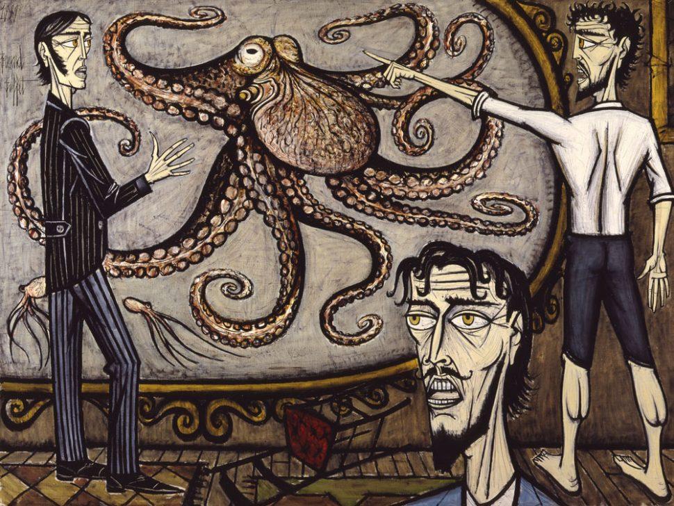 Bernard buffet retrospectiva de un pintor pol mico en par s for Buffet bernard