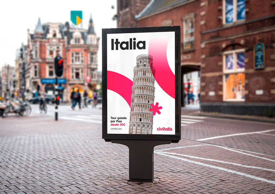 Civitatis Rebranding Erretres Calle Italia1