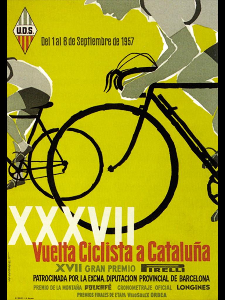 Ilustración de Enric Huguet para la Vuelta Ciclista de Cataluña