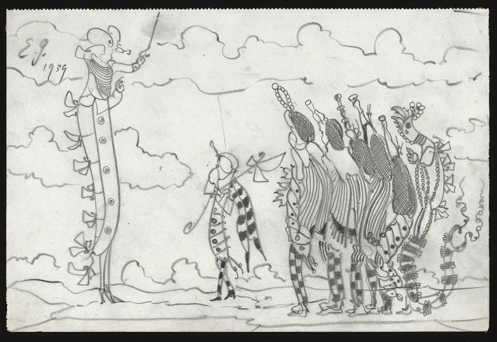 Dibujo de Eugen Gabritschevsky en la Collection d'Art Brut