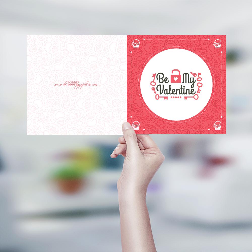 Plantilla de tarjeta de San Valentín, por Dribbble Graphics