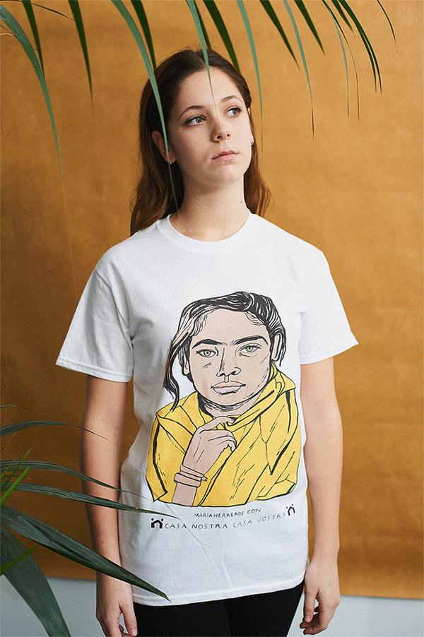 Diseño de María Herreros, una de las ilustradoras solidarias