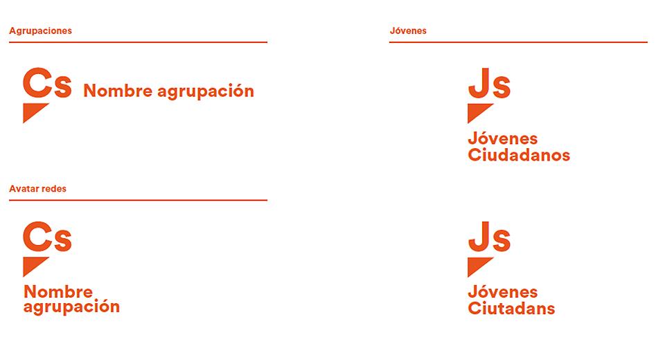 adaptaciones del logo Ciudadanos