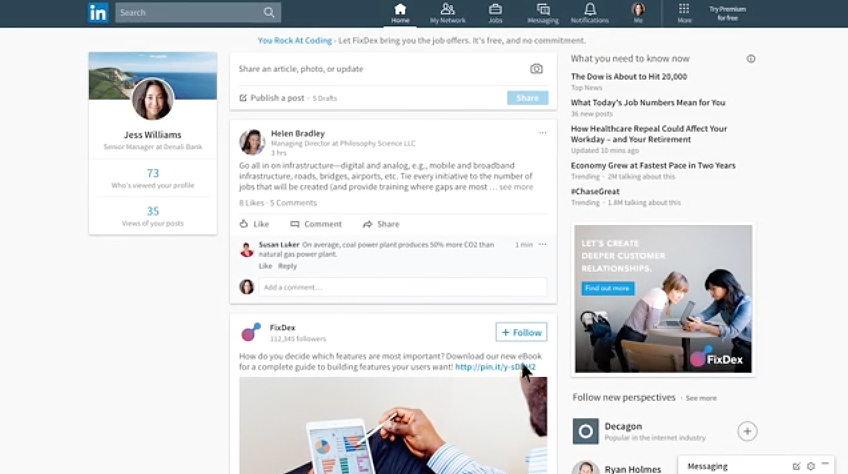rediseño de la interfaz de LinkedIn - 2