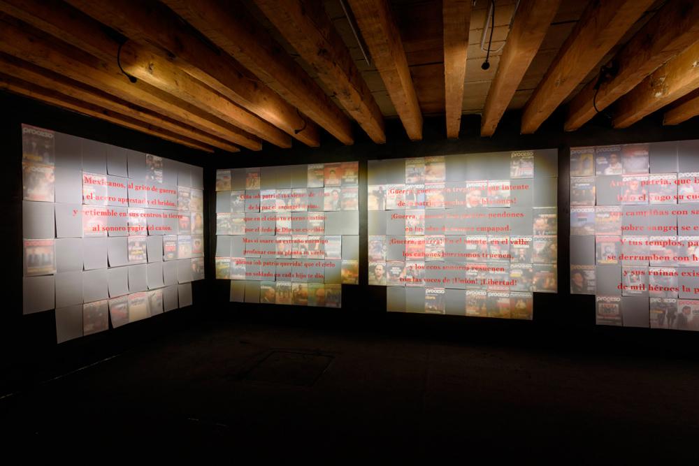 Parte de la exposición 'Mexicanos al grito de guerra' de Juan José Martín Andrés