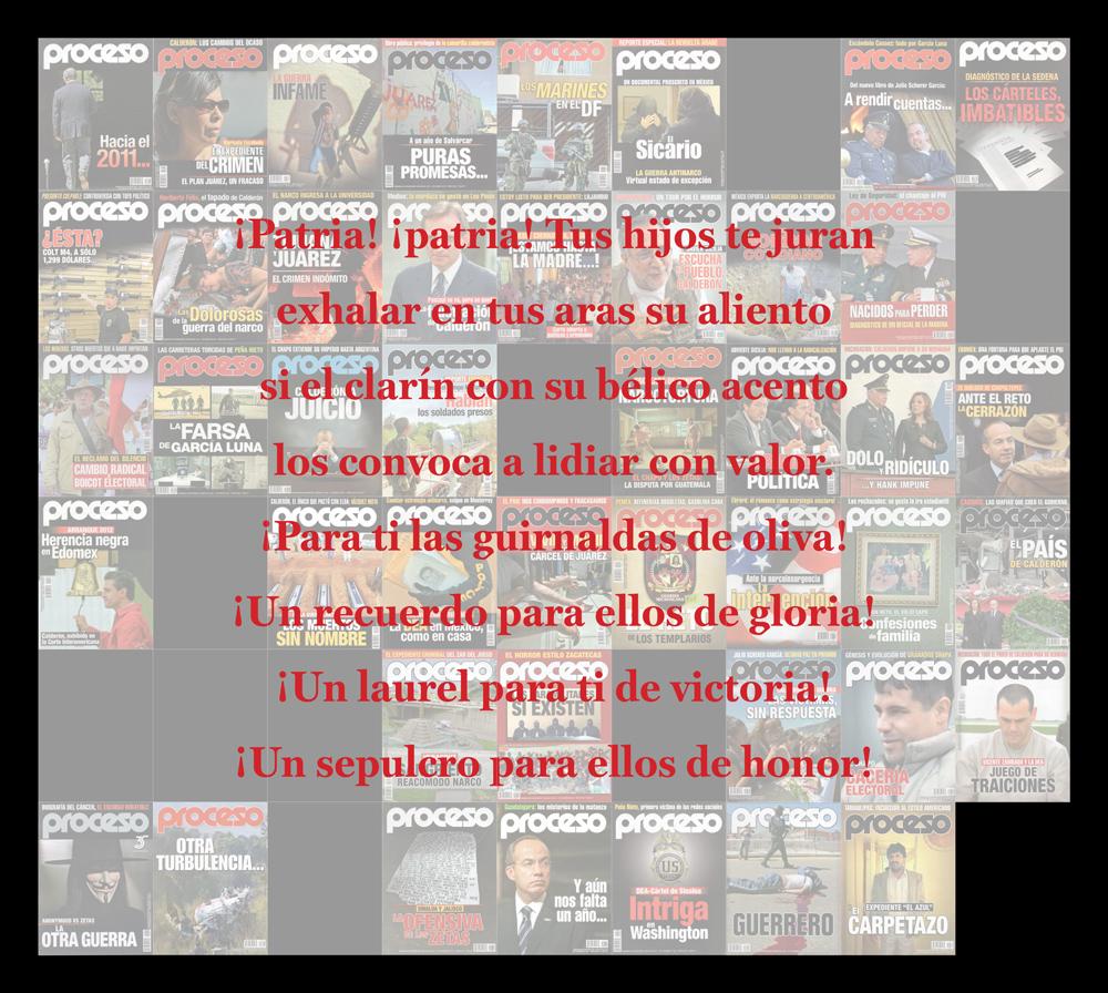 Fragmento de la exposición 'Mexicanos al grito de guerra' de Juan José Martín Andrés
