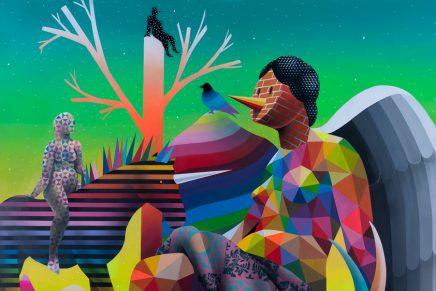 Okuda, arte callejero de corte pop surrealista