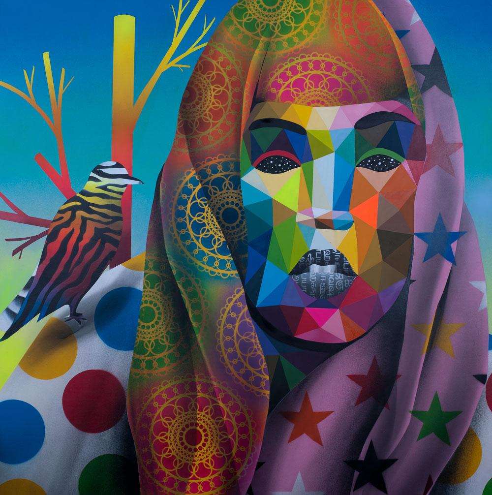 Okuda San Miguel en la galería StolenSpace