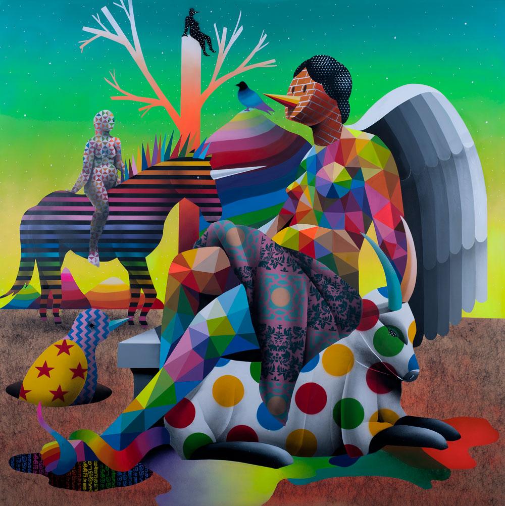 StolenSpace trae la obra del madrileño Okuda