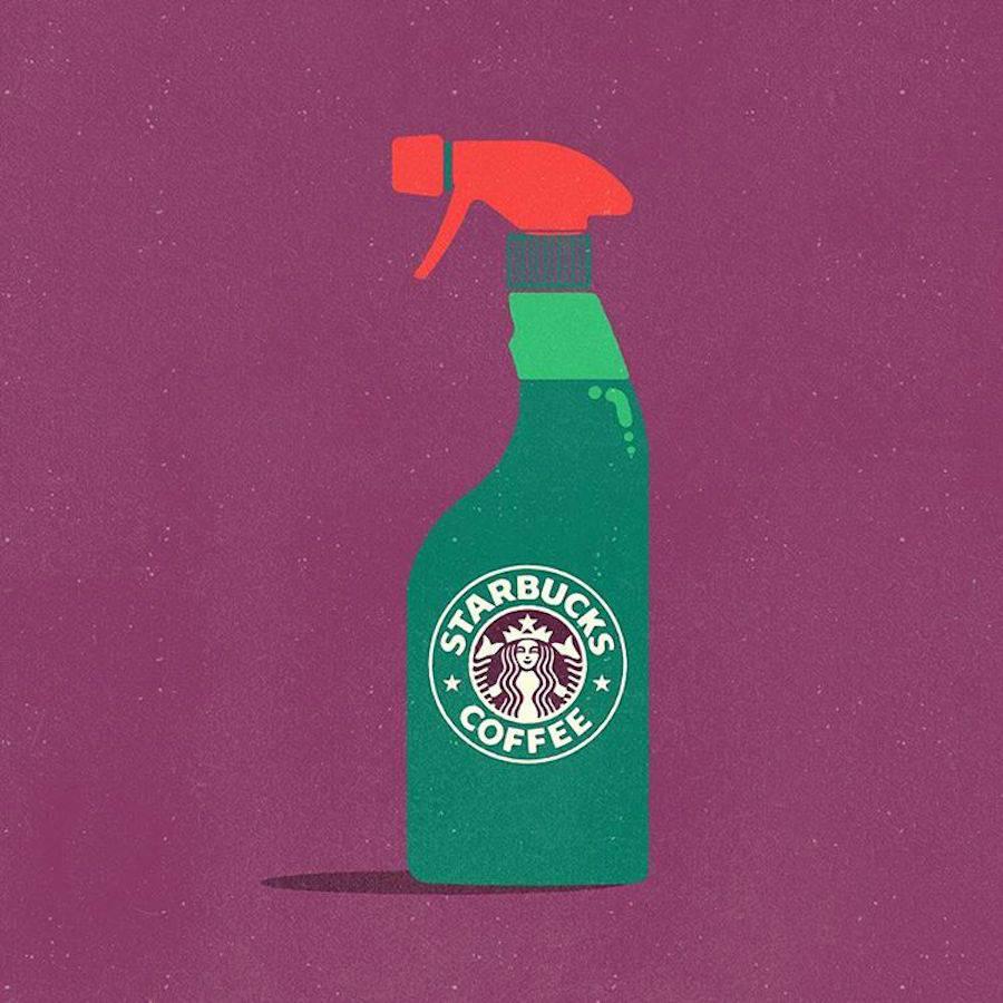 ¿Qué pasaría si los logos se intercambiaran los productos que representan? - Starbucks