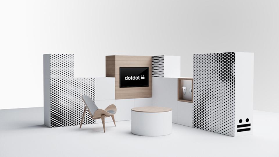 Algunos ejemplos de los patterns de dotdot, los únicos recursos gráficos de esta marca.