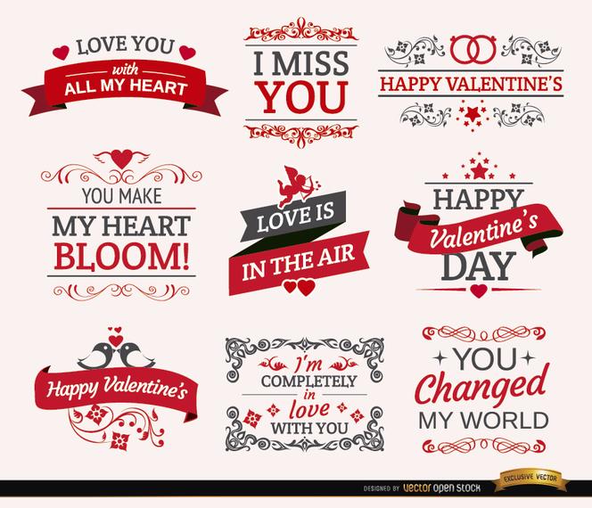 recursos gráficos gratuitos para San Valentín - vexels