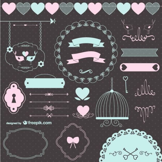 recursos gráficos gratuitos para San Valentín