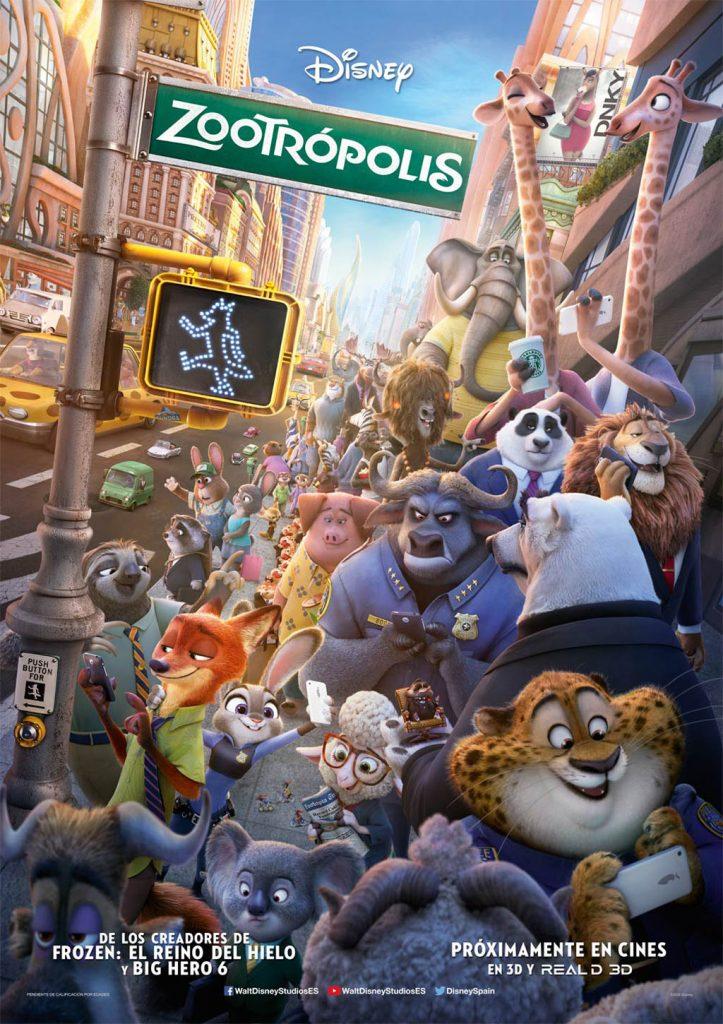 Zootrópolis como Mejor Película de Animación en los Globos de Oro 2017