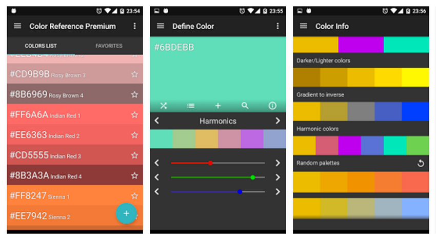 5 apps de Android para creativos - Color Reference