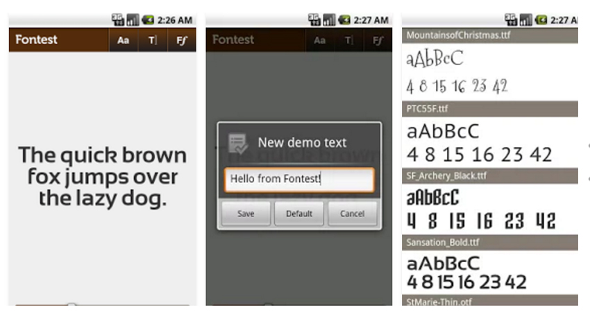 Font Test - 5 apps de Android para creativos -