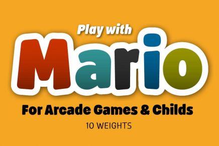 Josep Patau presenta la tipografía Mario, la compañera de juegos gamberra de los más pequeños