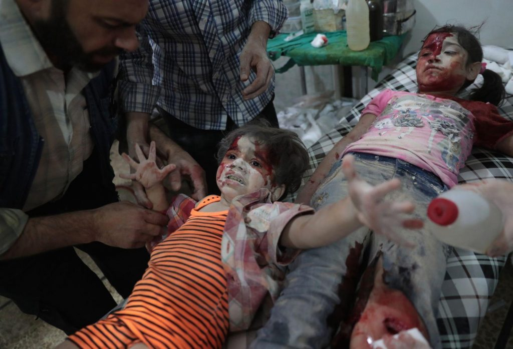 Abd Doumany - Medics Assist a Wounded Girl