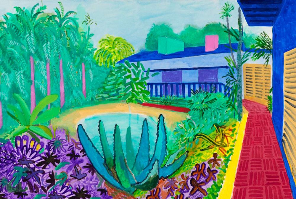 'Garden', 2015, de David Hockney