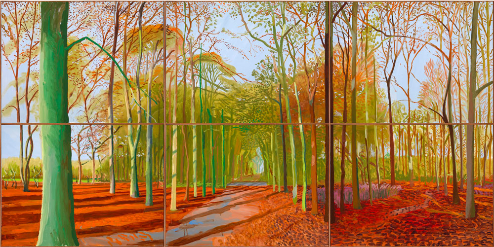 Woldgate Woods de David Hockney