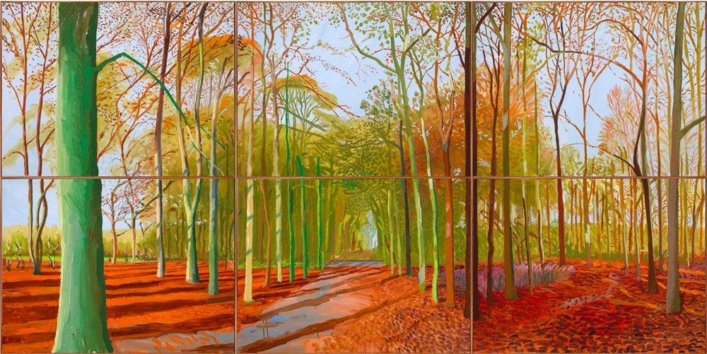 Woldgate Woods de David Hockney