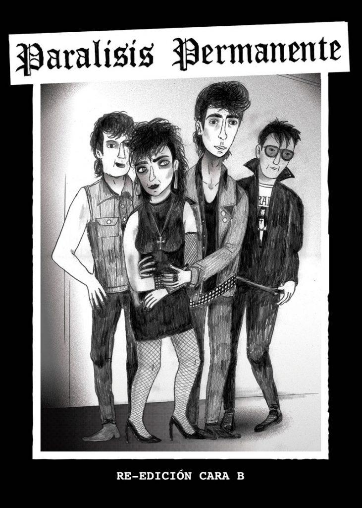 Marlene Krause dibuja a Parálisis Permanente en la exposición de Hits With Tits