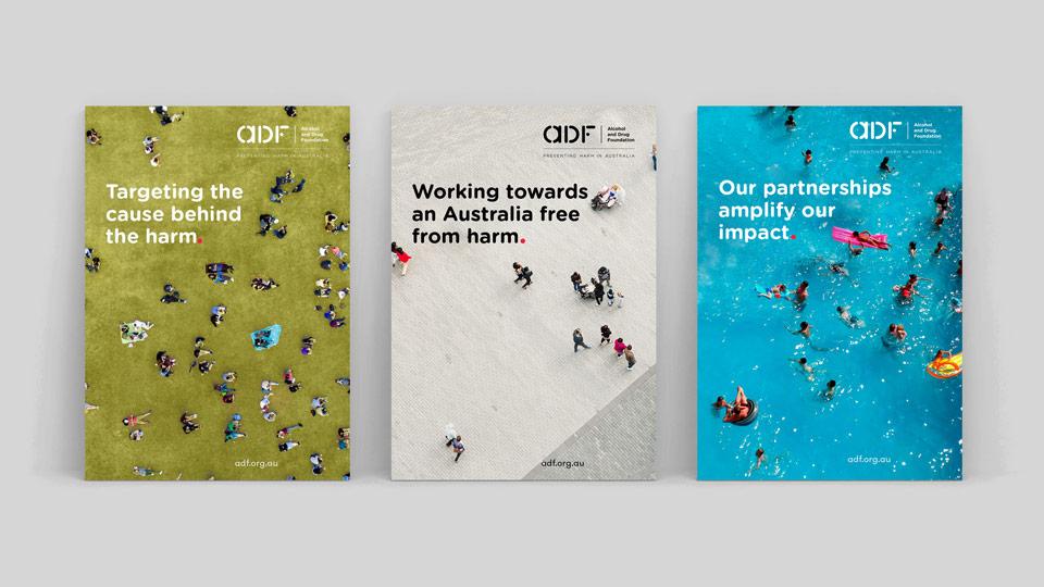 La identidad de la Fundación Australiana contra la droga rediseñada por Saffron - carteles