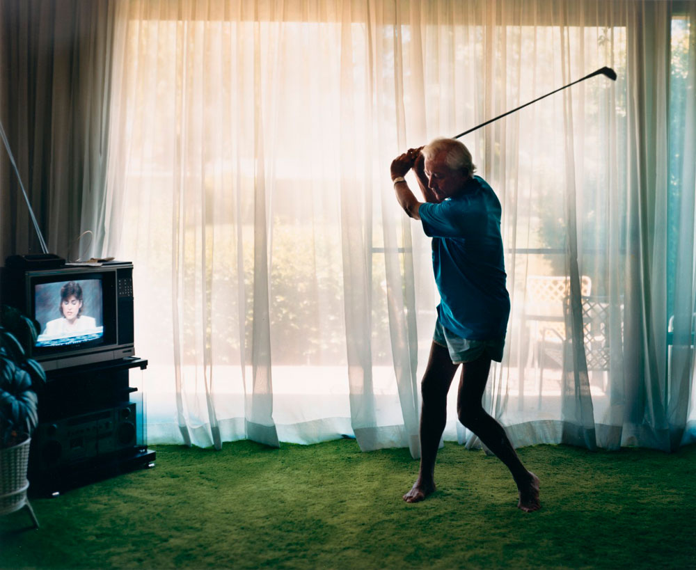 'Practicing Golf Swing' del fotógrafo Larry Sultan
