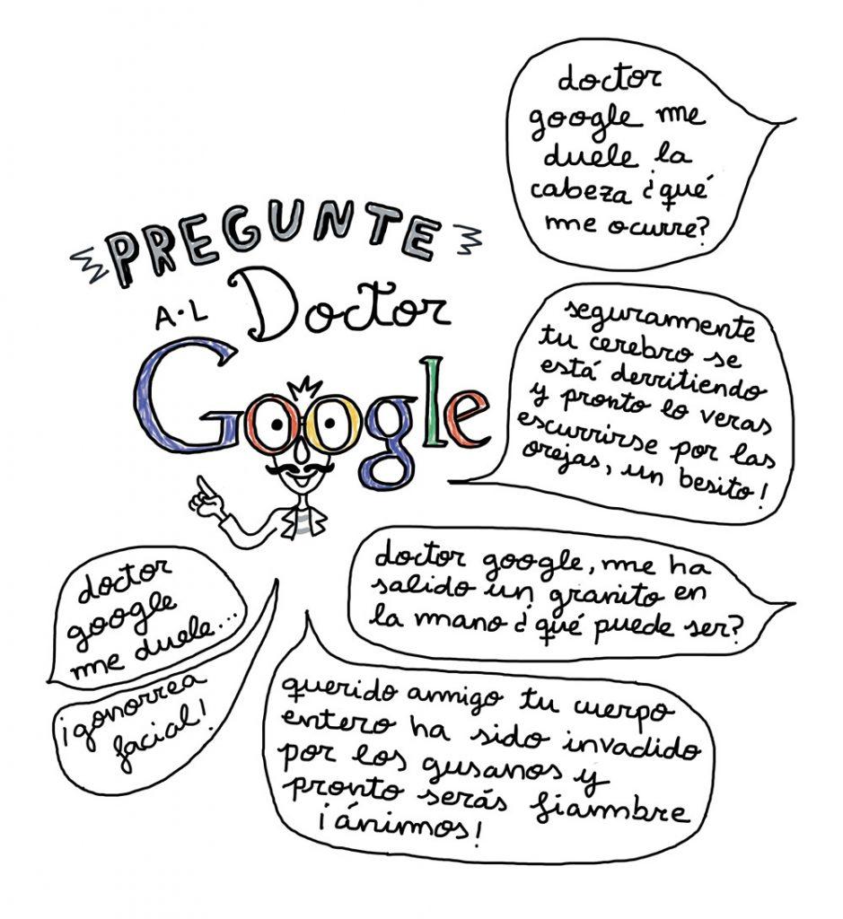 Viñeta Google por Anastasia Bengoechea - Monstruo Espagueti