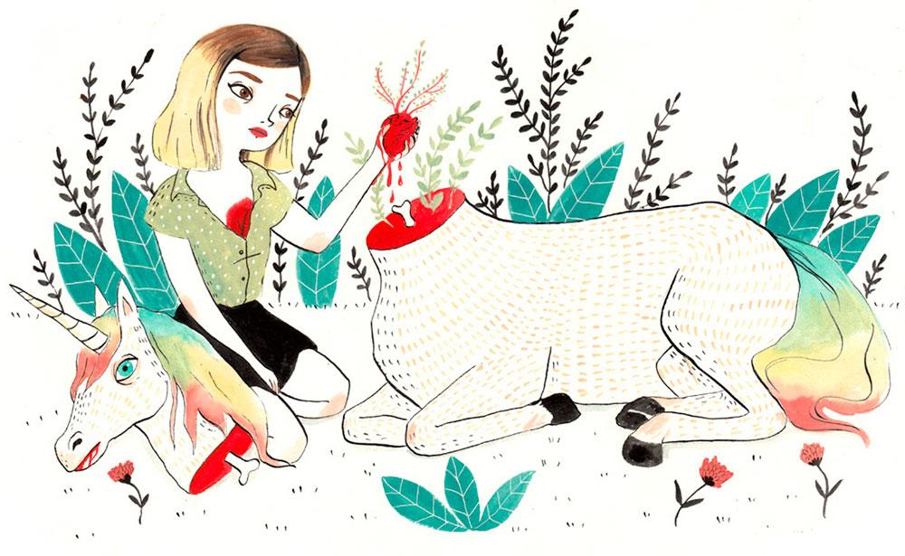Maria Hesse, 'Unicornio' en Mujeres Mirando Mujeres