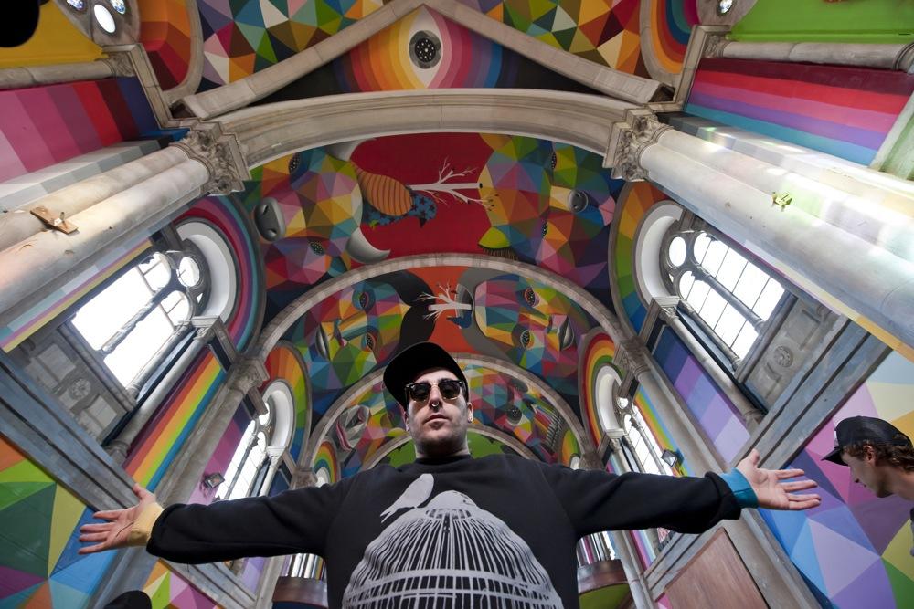 Okuda, el artista santanderino del pop surrealista