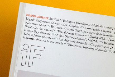 Revista IF, Diseño Urgente: problemáticas abiertas del diseño social