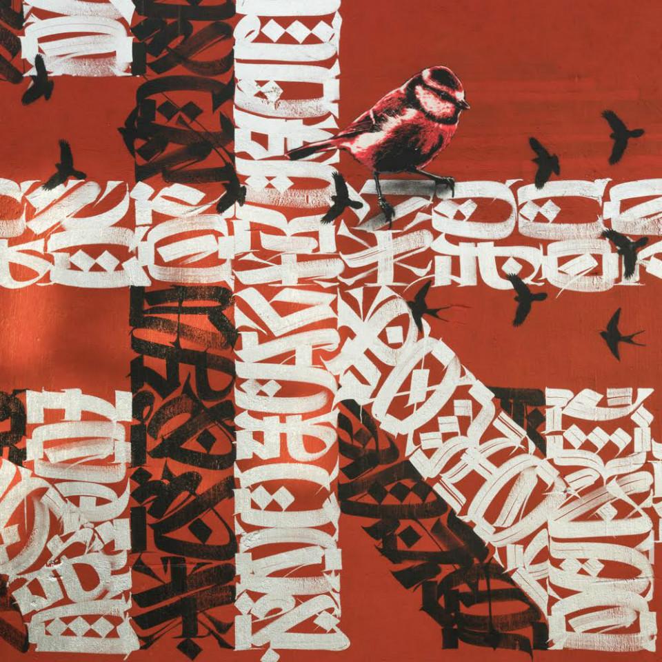 Detalle letras mural 'Del Barrio' de Said Dokins y Lapiztola