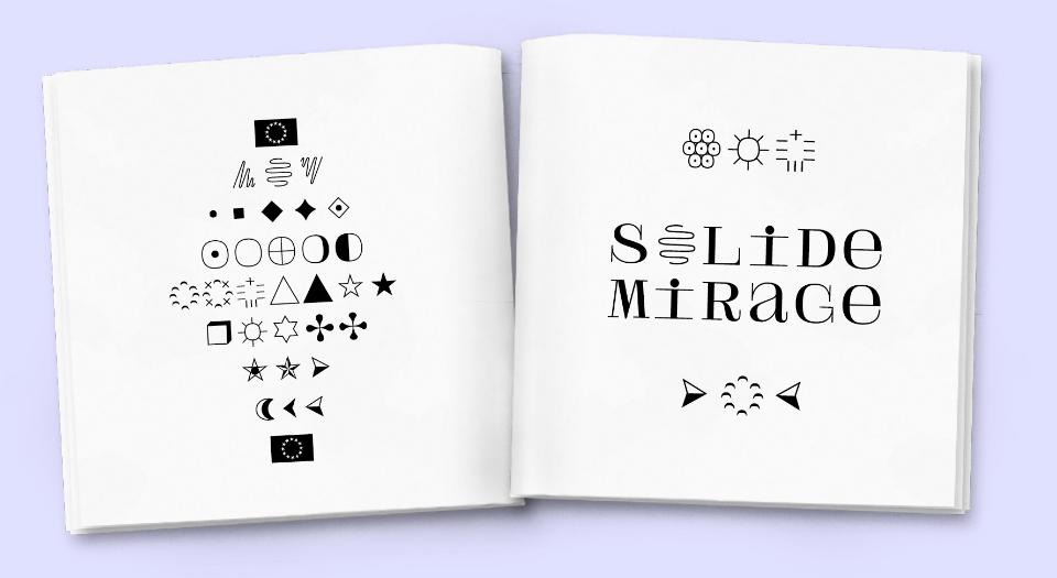 Muestra de la tipografía Solide Mirage