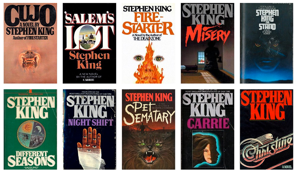 Tipografía Stranger Things - Portadas Stephen King1