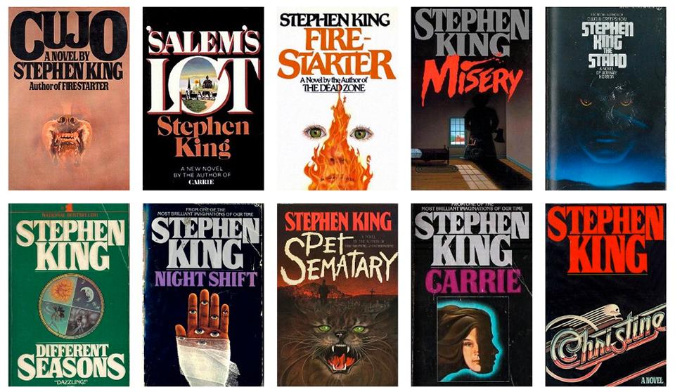 Tipografía Stranger Things - Portadas Stephen King1