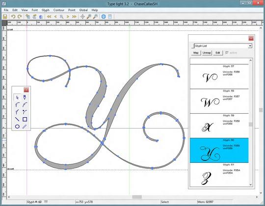 Type light, la herramienta gratuita para crear y editar fuentes - 1
