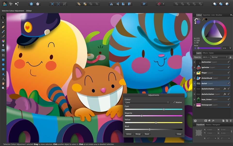 Las mejores alternativas a Illustrator - Affinity Designer