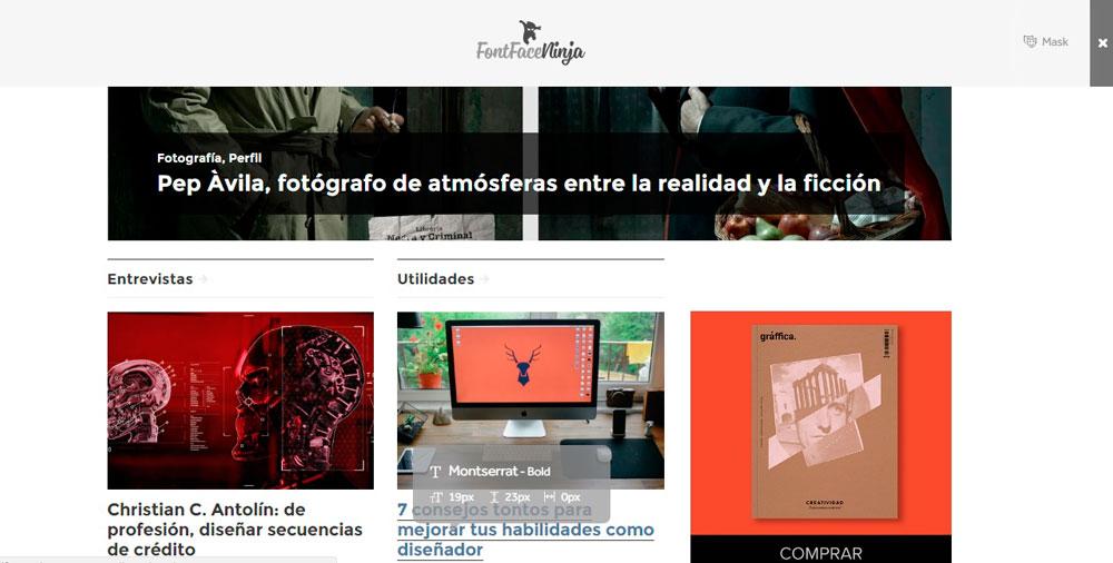 Fontface Ninja es el complemento con el que podrás identificar cualquier tipografía de internet